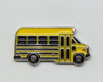 1989 Blue Bird Micro Bird Vandura Short Bus - Yellow - Enamel Pin - BRFC Dream Cars #6