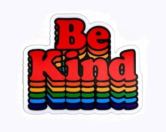 Be Kind sticker - vinyl die-cut sticker