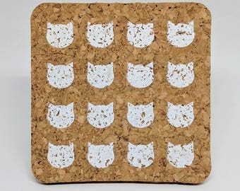 Cats - Cork Coasters - Set of 4