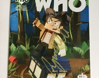 Signed 11th Doctor who Art comic cover