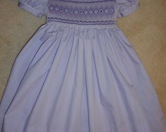 Lovely lavender smocked dress