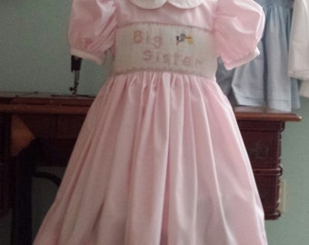 Big Sister smocked dress