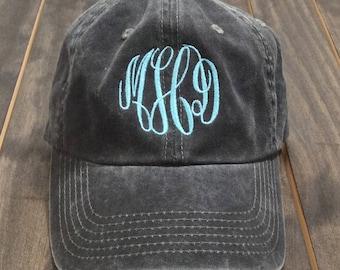 Monogrammed Baseball Hat - Monogrammed Hat - Monogrammed Cap - Monogram Hat - Womens Baseball Hat - Garment Washed Hat
