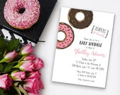 Baby Sprinkle Donut Themed Baby Shower Printable Invitation | Donuts and Diapers Baby Shower Digital Download 5 x 7 Invitation