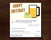 Hoppy Birthday Facebook Event Cover Photo | Birthday Party Facebook Event Header | Party Facebook Event Banner