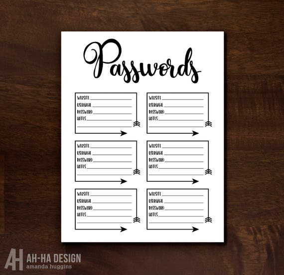 image regarding Password Keeper Printable identified as Pword Printable Organizer Pword Keeper Pword Business enterprise Electronic Obtain Pword Tracker Printable 8.5 x 11 Template