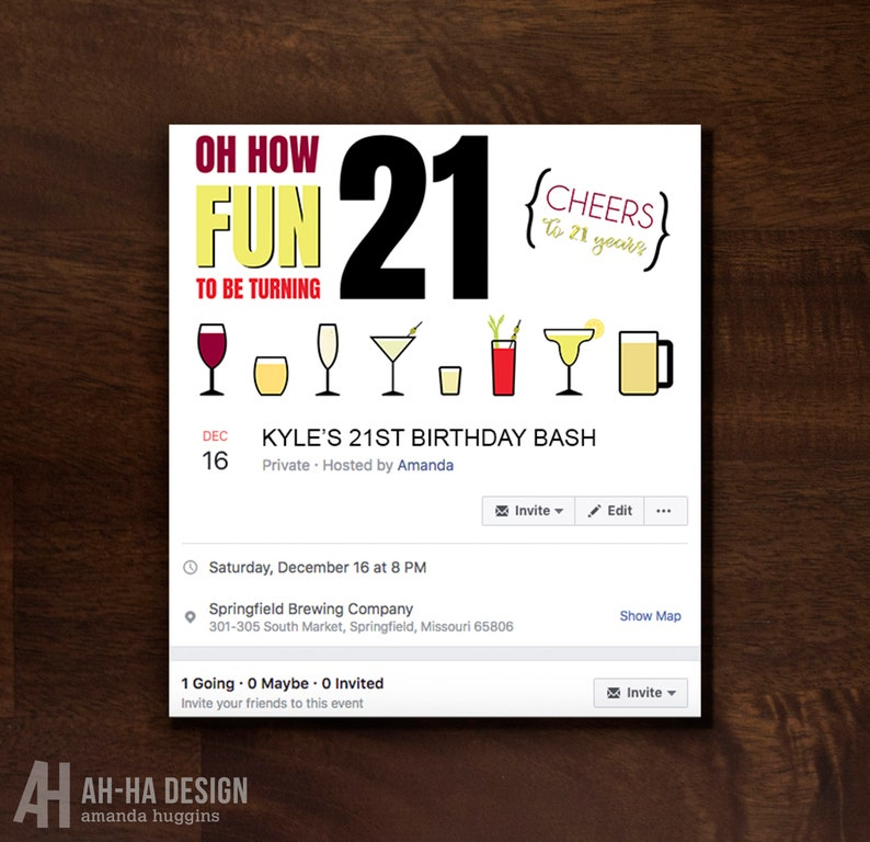 21st Birthday Facebook Event Cover Photo Birthday Party Facebook