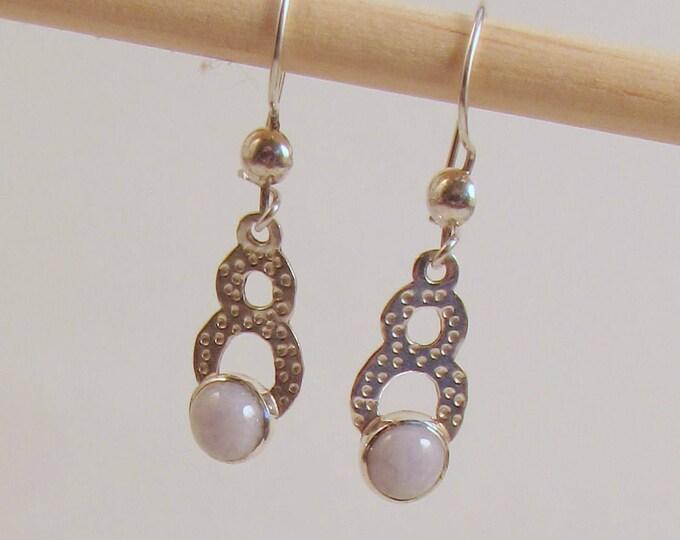 Guatemalan Jade Earrings in Lilac