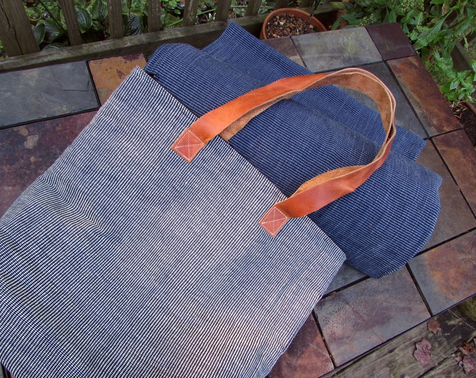 Guatemalan Tote in Black and Natural Hand Woven Fabric