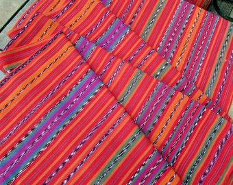 Guatemalan Fabric in Solola Red