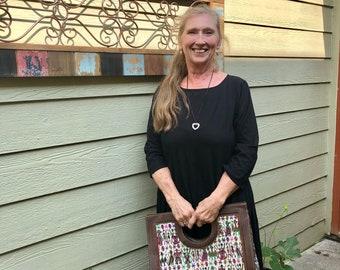 Guatemalan Bag: Hand Woven fabric from Nebaj