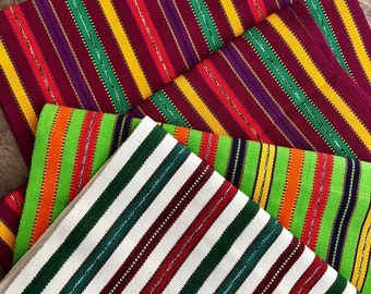 Guatemalan Hand Woven Textiles in Bright Colors