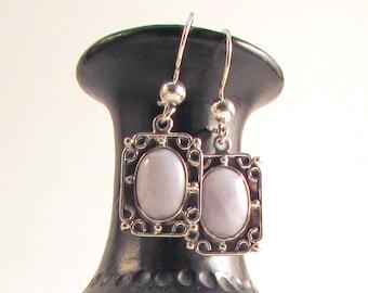 Guatemalan Lilac Jade Earrings