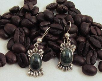 Guatemalan Dark Green Jade Earrings