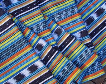 Guatemalan Fabric in Wild Turquoise Ikat