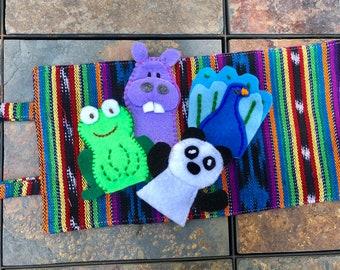 At The Zoo Animal Puppets  Guatemalan Fabric