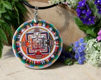 Buddhist Temple Pendant   Buddhism Jewelry   Buddhism Necklace   Personalized Jewelry   Buddhist Mandala Necklace