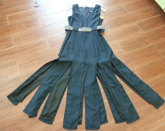 9035c551727 VINTAGE 1980 s Black Car Wash Party Dress by Late Edition Ltd - available