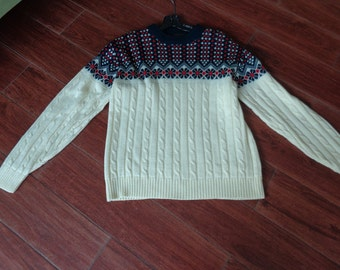 VINTAGE 1970 s Winter Acrylic Pullover Sweater by JC Penney - available 0f21203fa