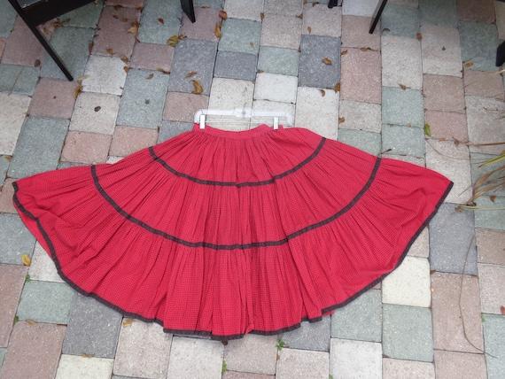 1950's Square Dance Circle Skirt