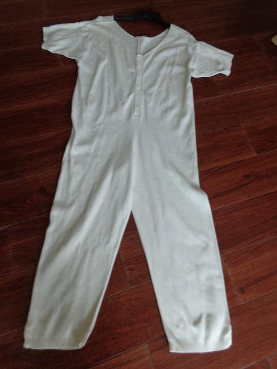Joan Vass Jumpsuit VINTAGE Early 1990's White Cott