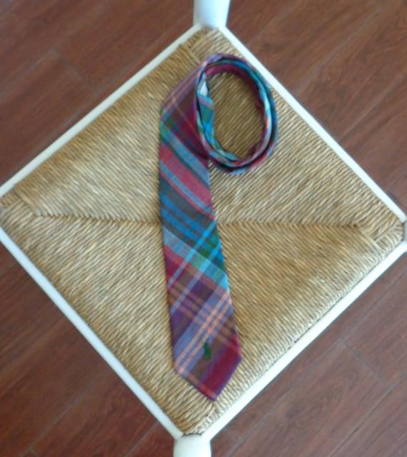 Ralph Lauren 1980s Madras Plaid Necktie - image 2