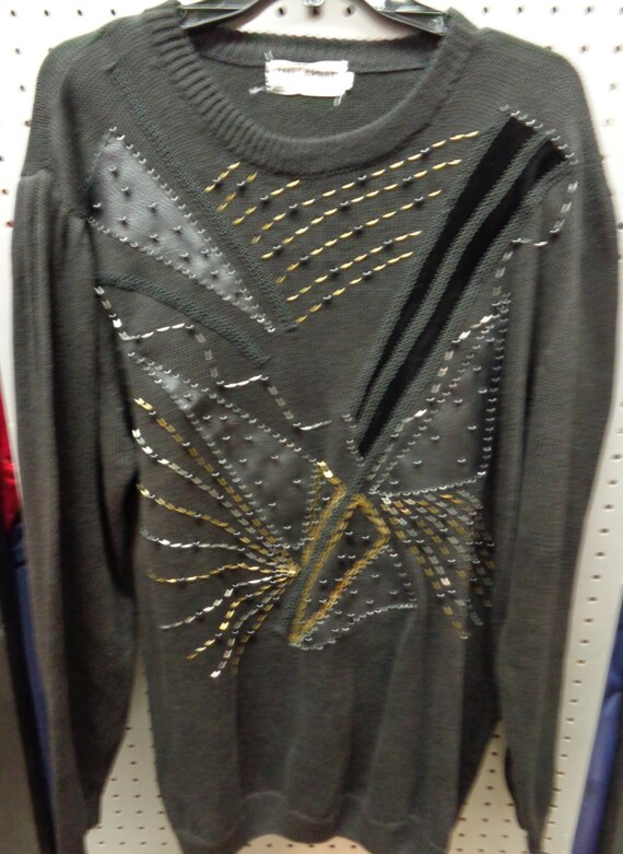 Ted Lapidus Cotton Sweater VINTAGE 1980's Ladies B