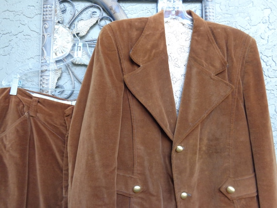Men's 1970's Velvet Suit