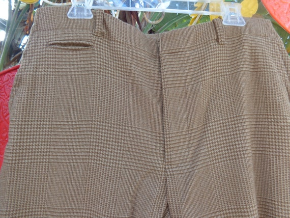 Ralph Lauren Polo 1980's Brown Hounds Tooth Plaid… - image 1