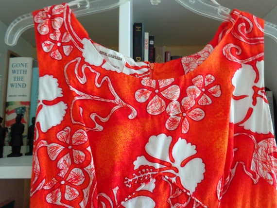 Royal Hawaiian 1960s Barkcloth Maxi Dress