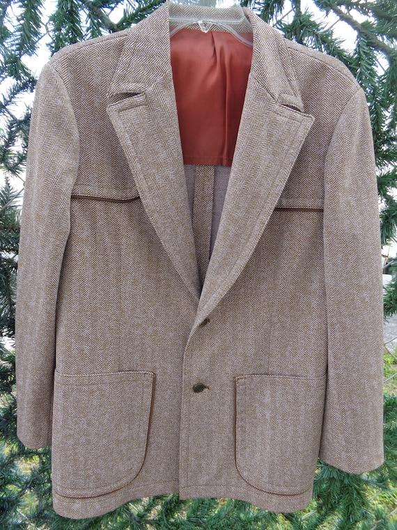 Amazing Suit LEE-VINTAGE 1970's Men's 3 Piece Brow