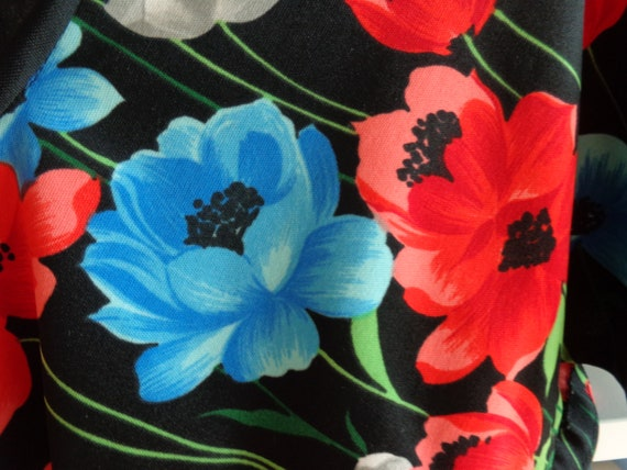 1970's Floral Print Dress Polyester - image 7