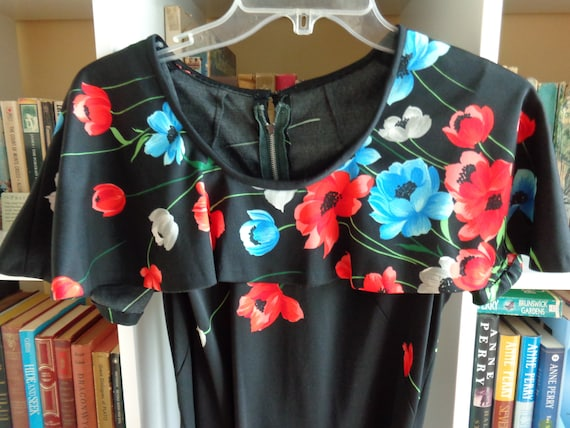 1970's Floral Print Dress Polyester - image 1