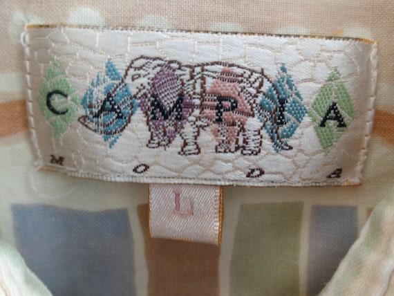 Campia 1980's Short Sleeve Shirt - image 7