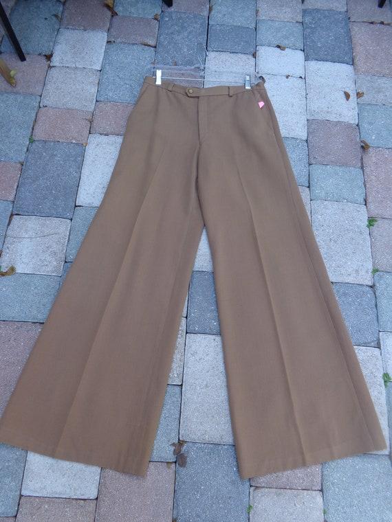 1970's Men's European Bell Bottom Disco Pants - image 2