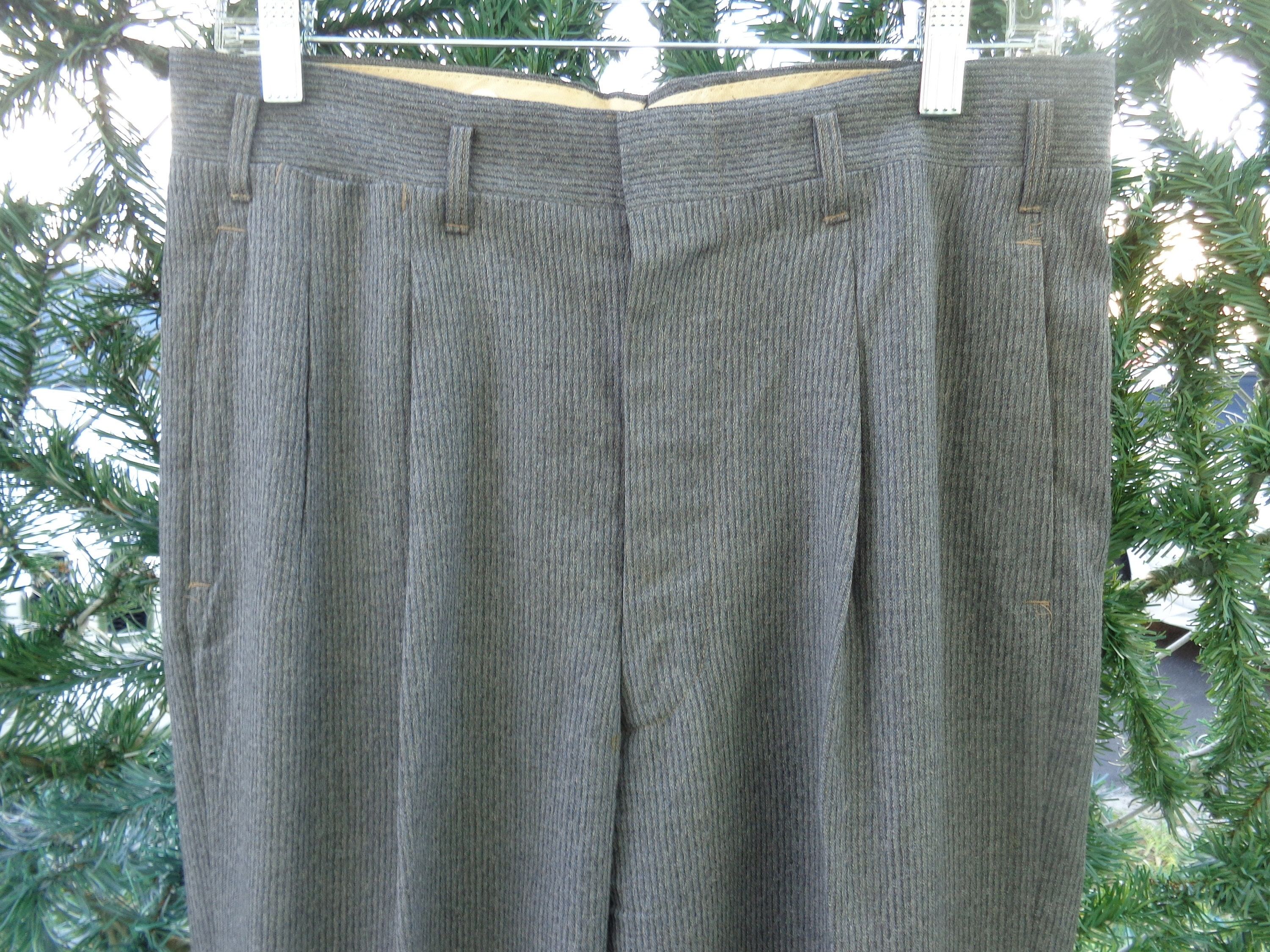 1950s Men's Ties, Bow Ties – Vintage, Skinny, Knit Mens 1950s Classic Gray Pinstripe Trousers $79.00 AT vintagedancer.com