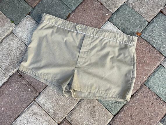 Vintage 1970's Men's Khaki Swimwear/Shorts - image 2