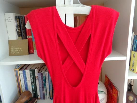 Jody 1980's Backless Dress Small)