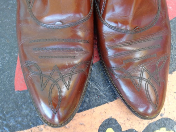 Bloomingdale's 1980's Brown Leather Italian Boots - image 3
