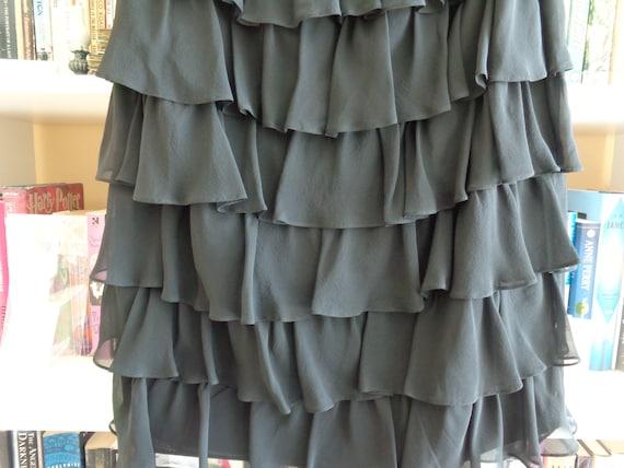 Kay Unger New York 1980's Dress Strapless Ruffled… - image 5