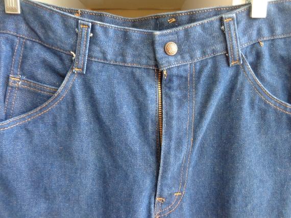 Diamond Double U 1970's Unisex Blue Denim Jeans