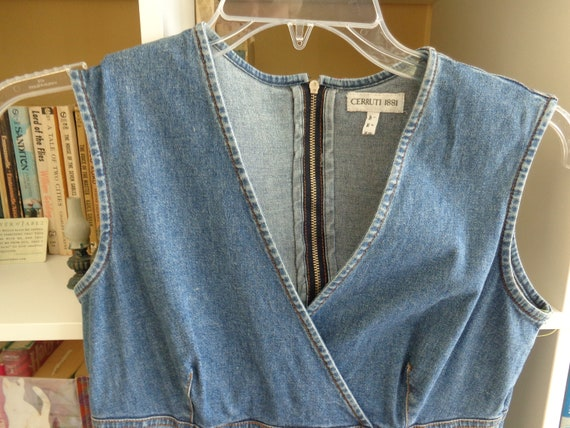 Cerruti 1881-1980's Blue Denim Dress/Jumper