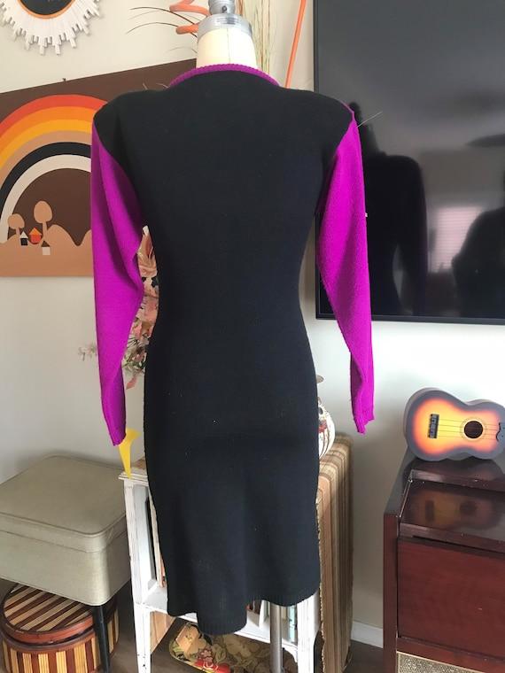 Amilano 1980s Acrylic Knit Sweater Dress - image 3
