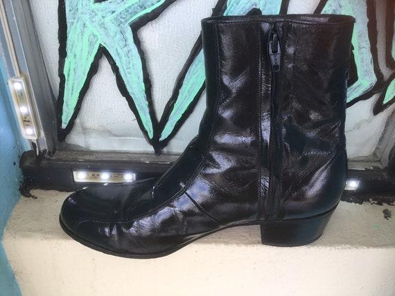 1970's Florsheim Men's Black Leather Beatle Boots