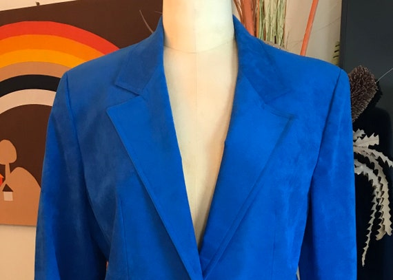 Ultra Suede 1990s Skirt Suit