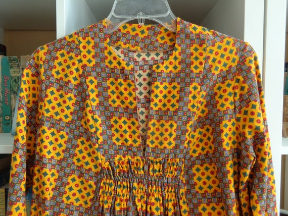 Val Mode Bohemian Maxi Dress VINTAGE Early 1970s G