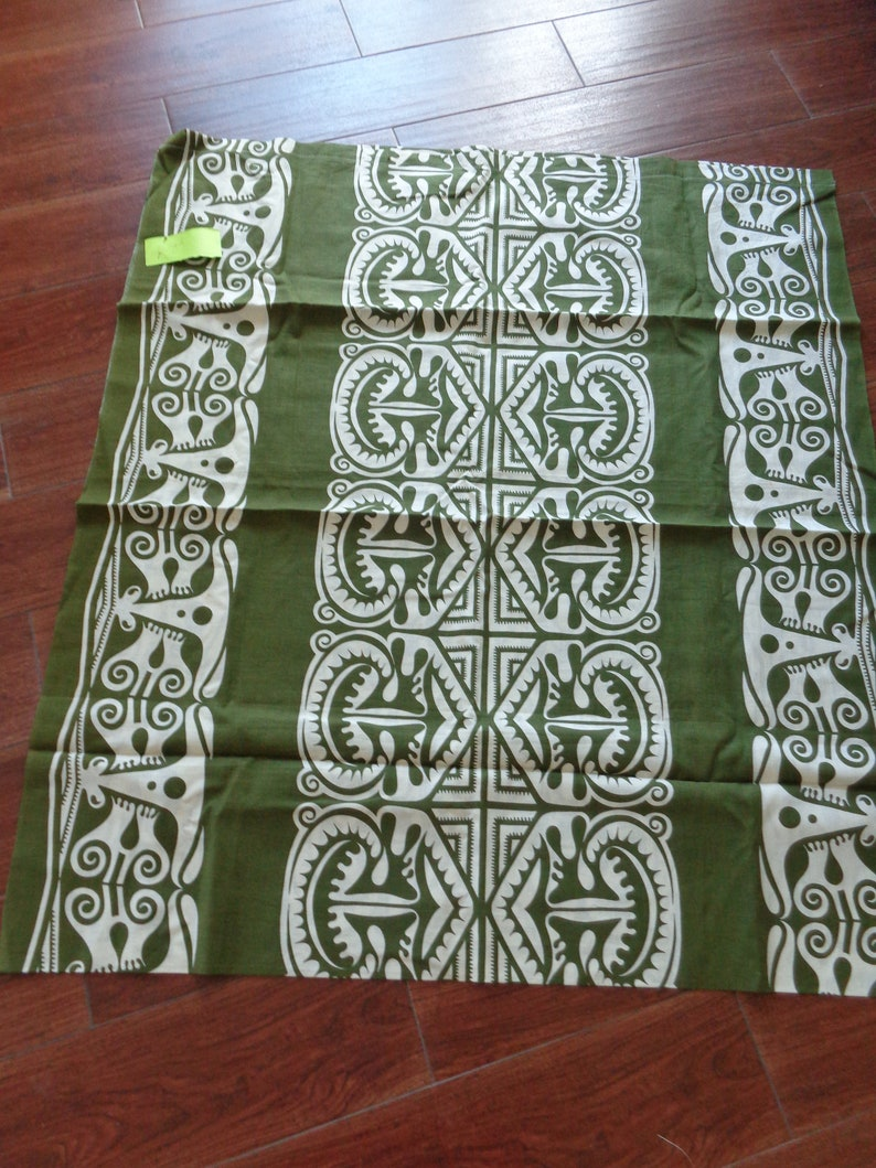 VINTAGE 1980/'s Tiki Print Marmeiko Type Fabric available