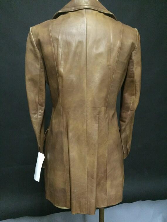1970s Jacket Ladies Brown Leather - image 3