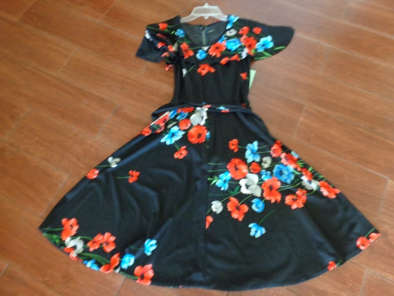 1970's Floral Print Dress Polyester - image 2