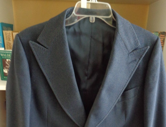 St.Regis Collection 1970's Men's Navy Blue Wool Pi